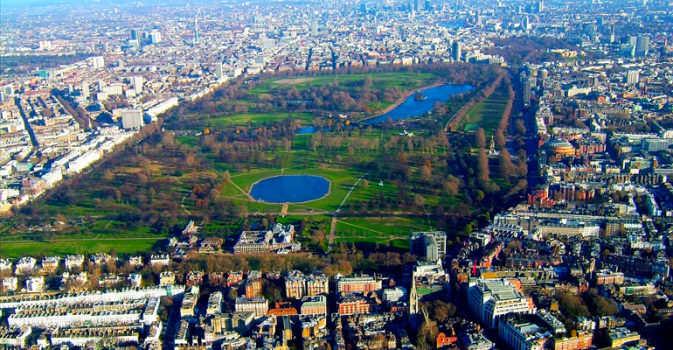 Hyde park view from top
